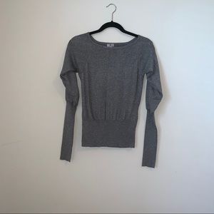 Worthington Gray Shimmer Sweater